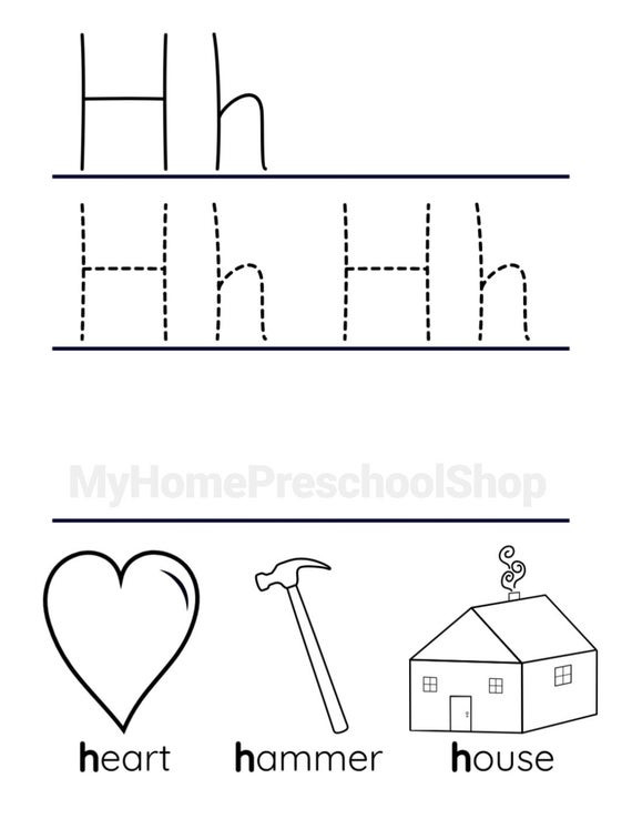 Letter H Worksheets Preschool Letter H Worksheet