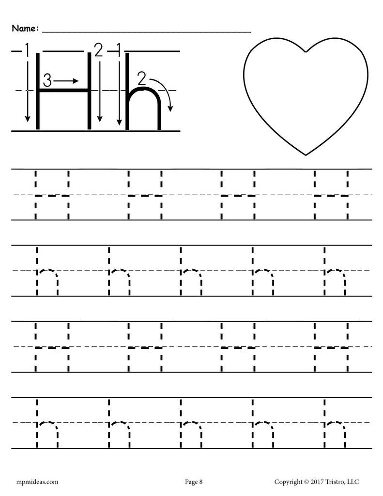 Letter H Worksheets Preschool Printable Letter H Tracing Worksheet