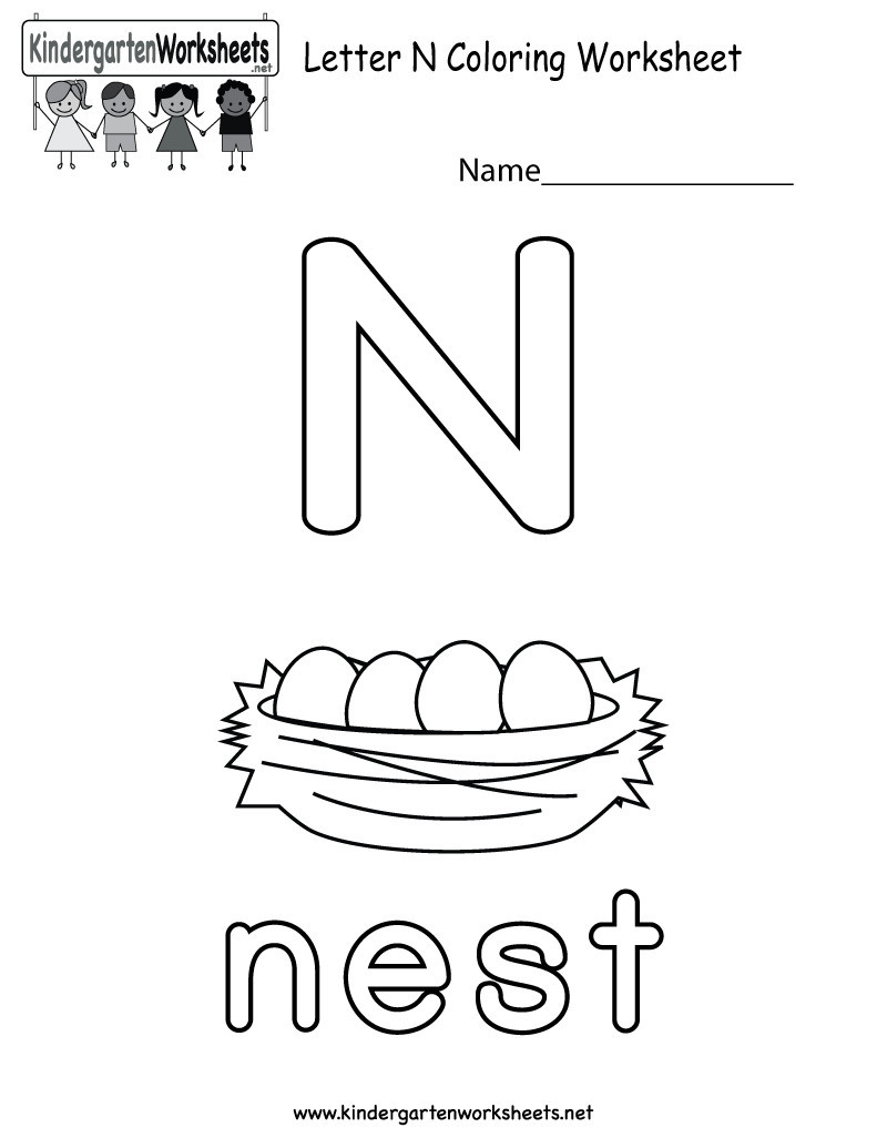 Letter N Worksheets for Preschool 14 Interesting Letter N Worksheets for Kids