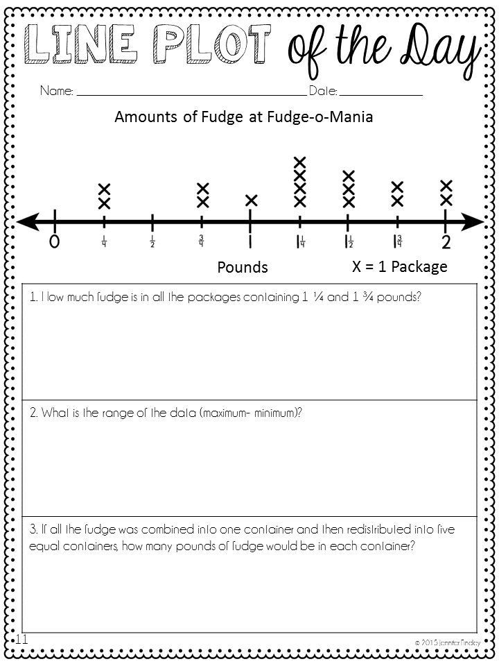 Line Graph Worksheets 5th Grade Line Plots Line Plot Of the Day