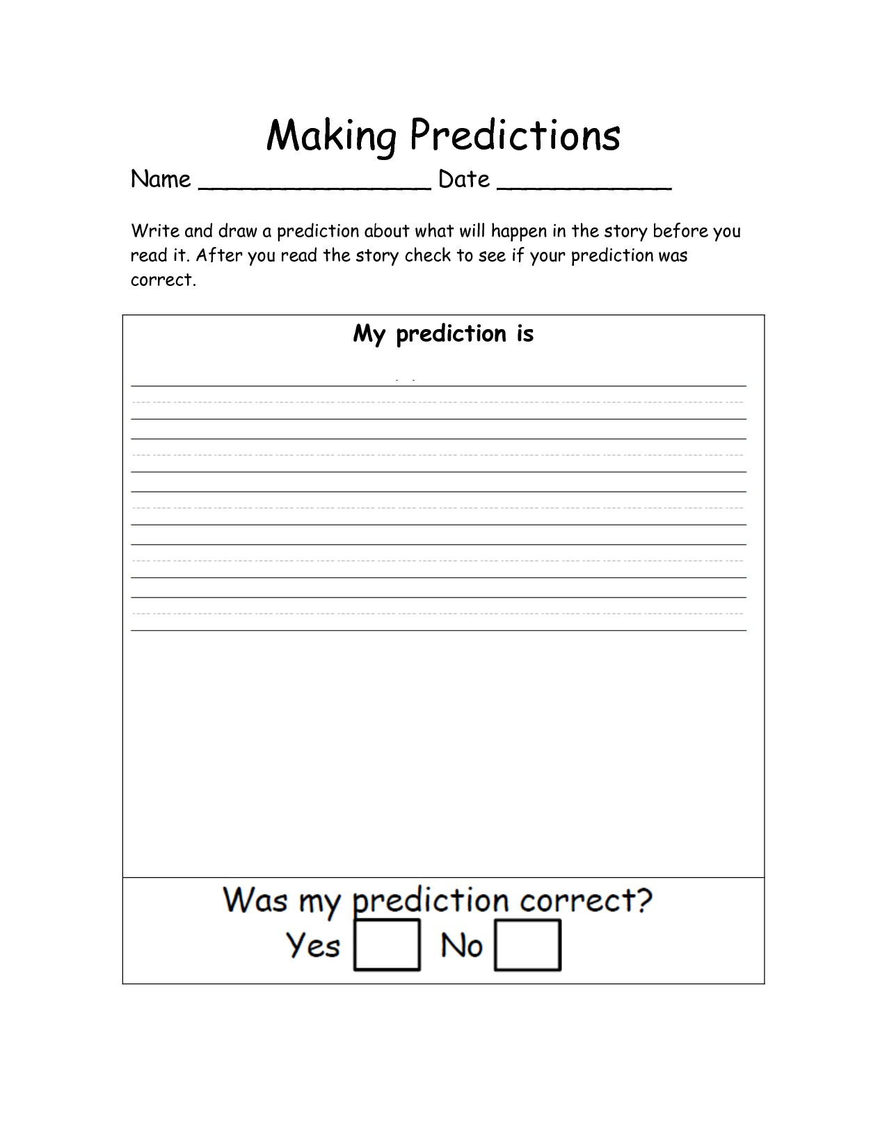 Making Predictions Worksheets 2nd Grade Prediction Math Worksheets 2nd Grade