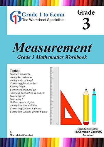 Measurement Worksheet Grade 3 Amazon Grade 3 Maths Measurement Pyp K 6 Ks2