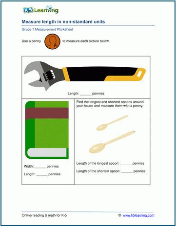 Measurement Worksheet Grade 3 K5 Learning Adds Grades 1 2 and 3 Measurement Worksheets