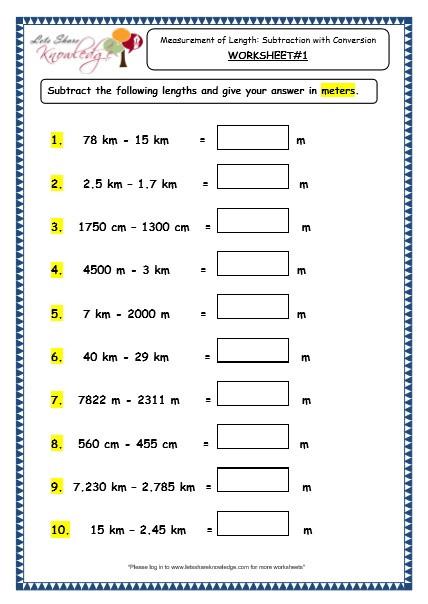Measurement Worksheets for 3rd Grade 78 Worksheet Length Grade 3