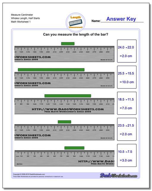 Measuring Worksheet 2nd Grade Metric Measurement