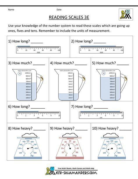 Measuring Worksheets 3rd Grade 3rd Grade Measurement Worksheets