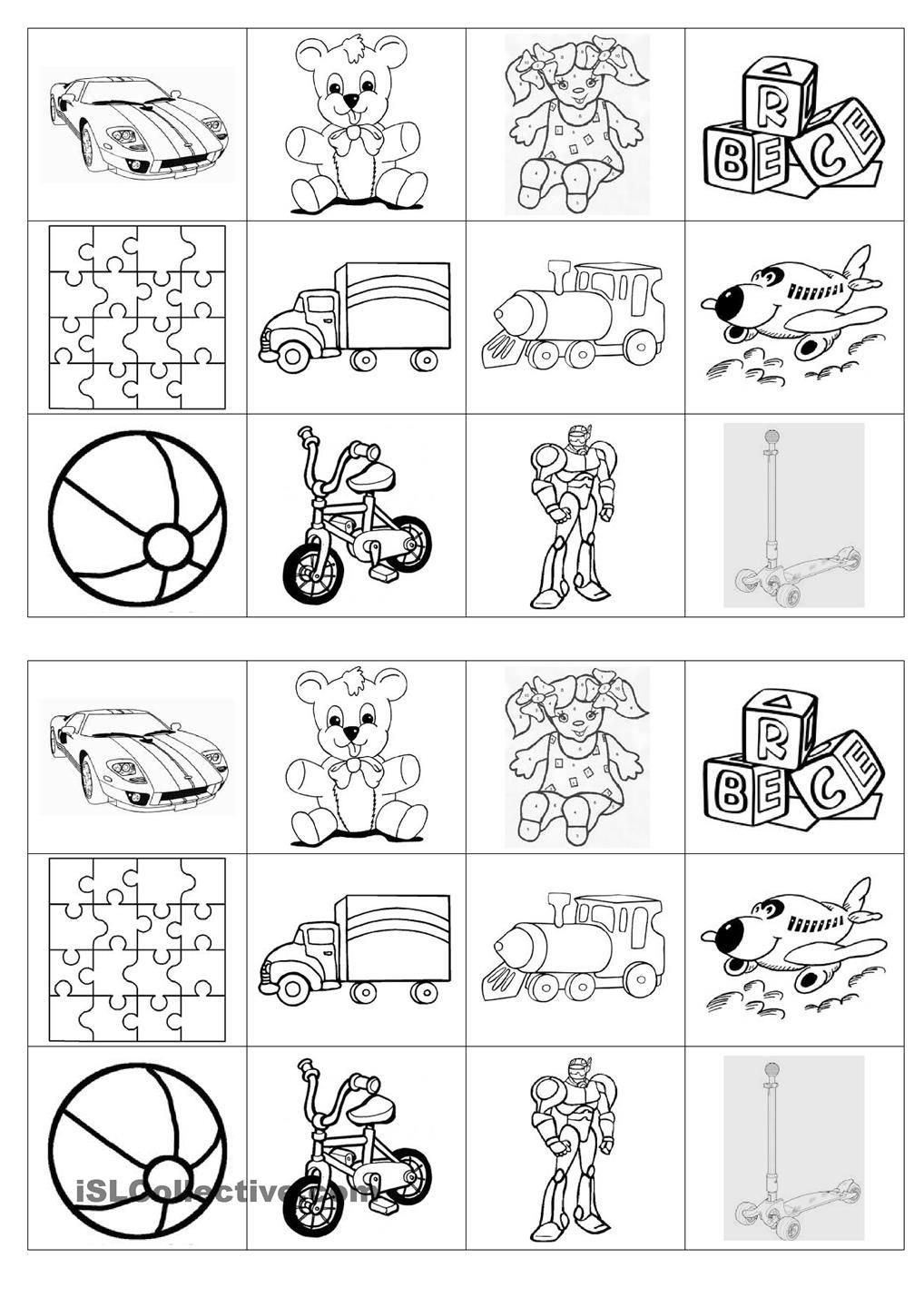 Memory Exercises for Adults Printable Memory Game On toys
