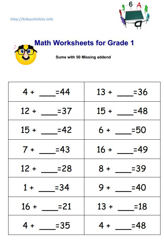 Missing Number Worksheets 2nd Grade Addition Exercises for Children Having Difficulty