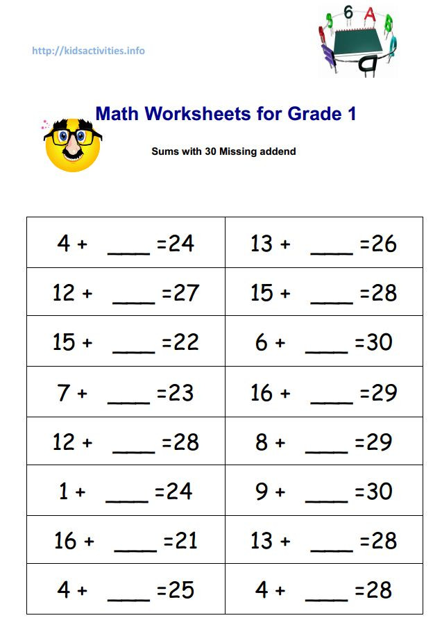 Missing Number Worksheets 2nd Grade Missing Addend Addition Worksheets 2nd Grade