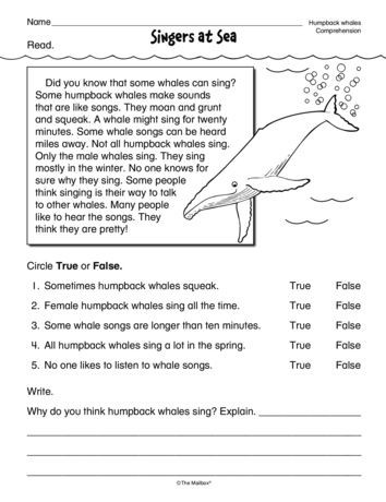 Ocean Worksheets for 2nd Grade Singers at Sea Lesson Plans