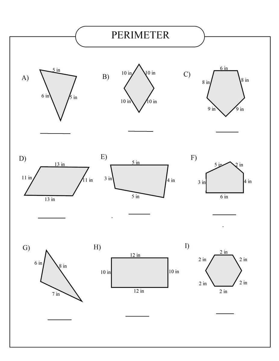 Perimeter Worksheets 3rd Grade Perimeter
