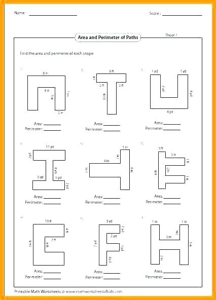 Perimeter Worksheets for 3rd Grade Perimeter Worksheets for 3rd Grade Find the Perimeter