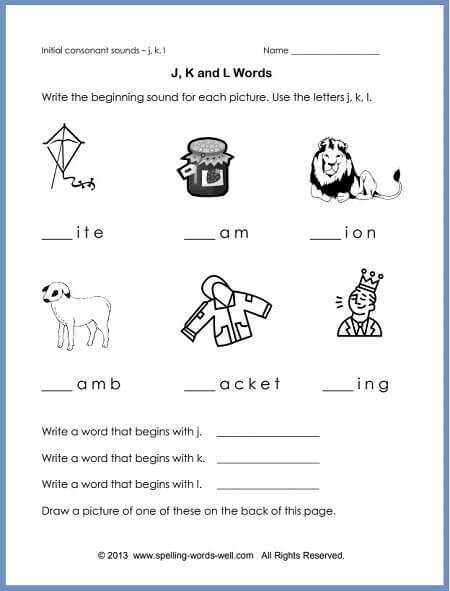 Phonics Worksheets Grade 1 Phonics Worksheet to Reinforce Initial sounds