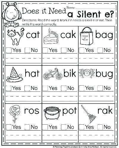 Phonics Worksheets Grade 1 Silent Letter Worksheets Free Printable – Omgstories
