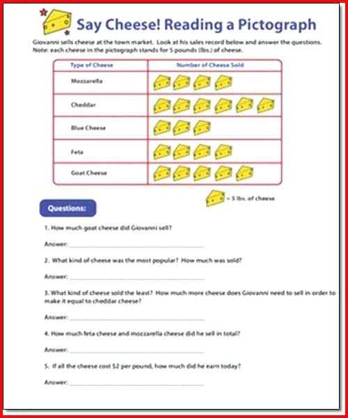 Pictograph Worksheets 3rd Grade Pictograph Worksheets 5 Bar Graph Pictograph Worksheets by