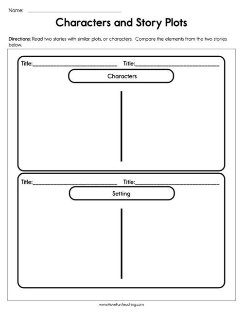 Plot Worksheets 2nd Grade Story Elements Worksheets • Have Fun Teaching