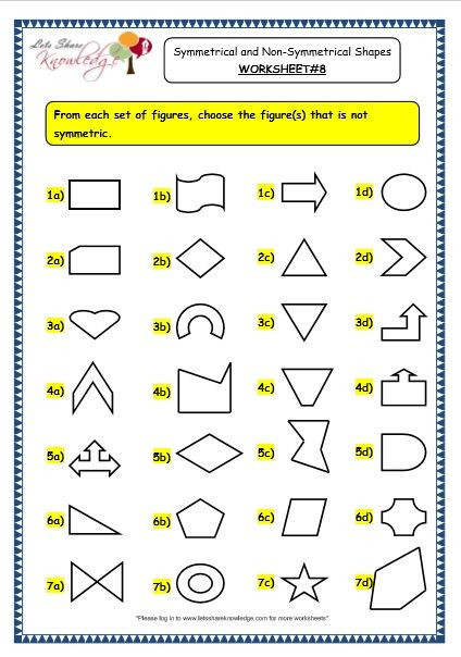Polygon Worksheets 3rd Grade Grade 3 Maths Worksheets 14 4 Geometry Symmetrical and