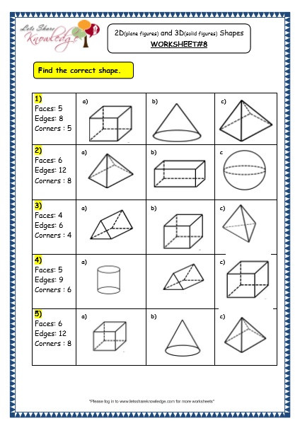 Polygon Worksheets 3rd Grade Grade Maths Worksheets Geometry Plane Figures and Geometric