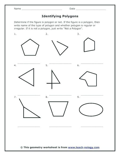 Polygon Worksheets 4th Grade Polygon Worksheets Regular Polygons Shapes Printable Upgrade