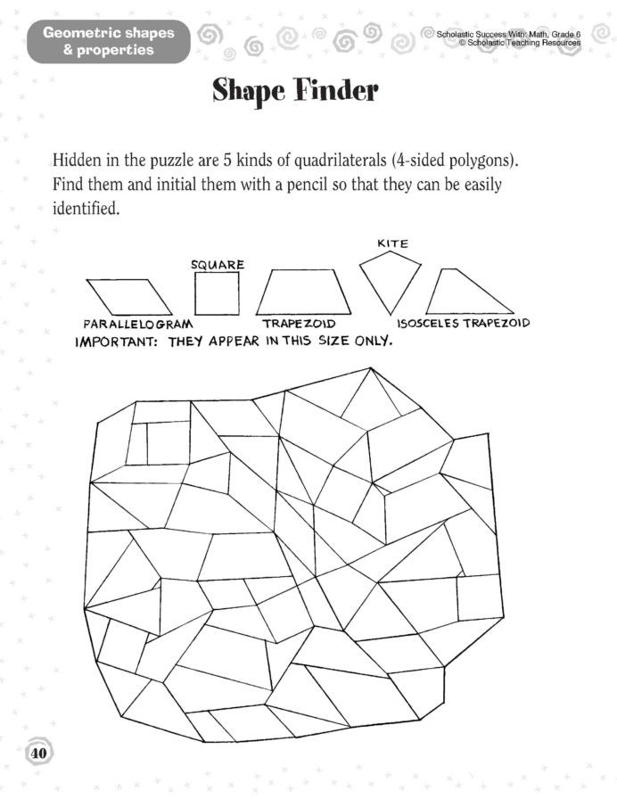 Polygon Worksheets 4th Grade Shape Basics Congruent Shapes Worksheets