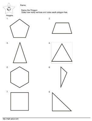 Polygon Worksheets for 2nd Grade 2nd Grade Math Teach the Kids Polygons with these Nifty