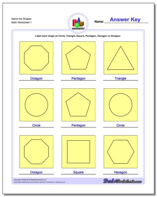 Polygon Worksheets for 2nd Grade Basic Geometry