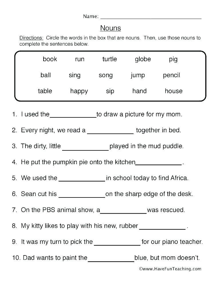 Possessive Pronouns Worksheet 2nd Grade Pronouns Worksheets 2nd Grade – whogonefight