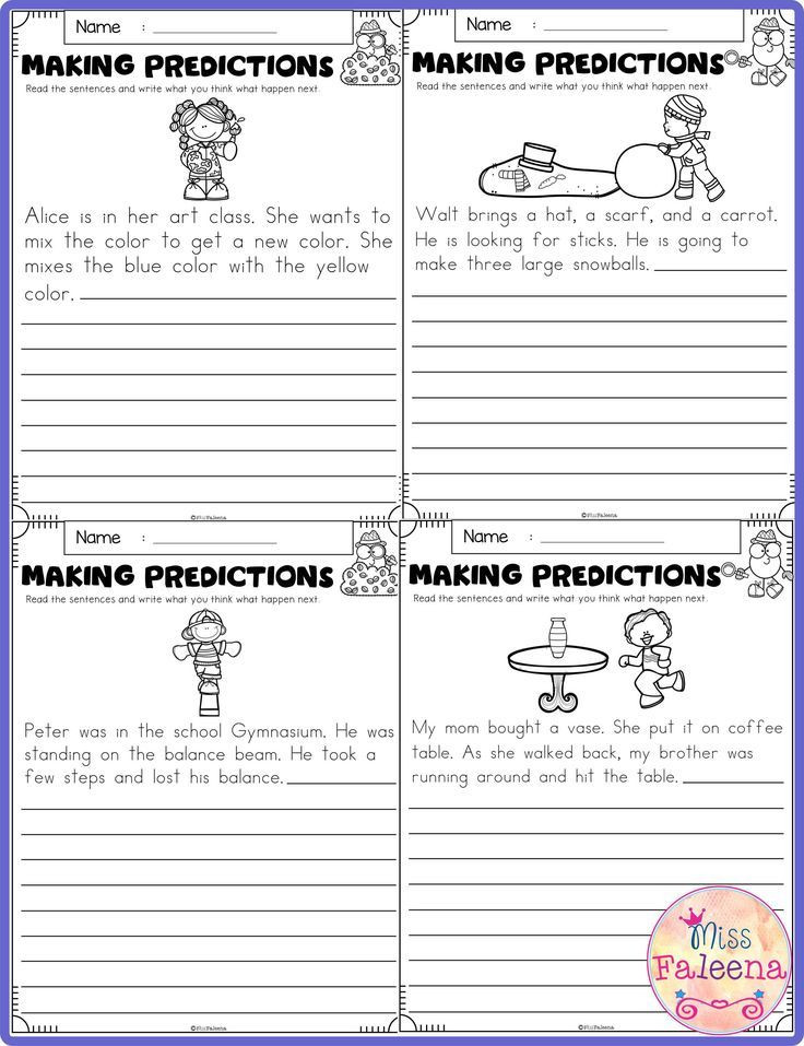 Prediction Worksheets 2nd Grade Free Making Predictions