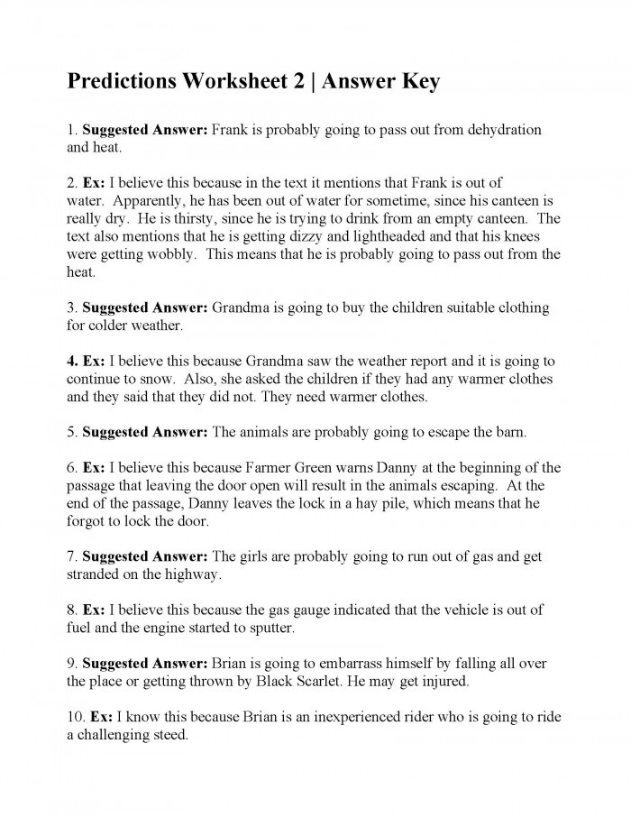 Prediction Worksheets for 2nd Grade Making Predictions with Text Evidence Worksheets