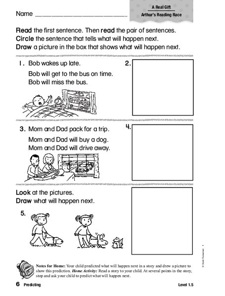 Predictions Worksheets 1st Grade Predicting Worksheet for 1st 2nd Grade