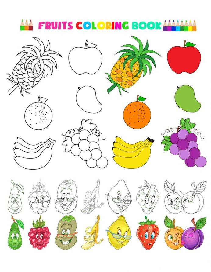 "Preschool Fruits and Vegetables Worksheets Fruit and Veg Printable Worksheets لم يسبق له Ù…Ø ÙŠÙ"" الصور"