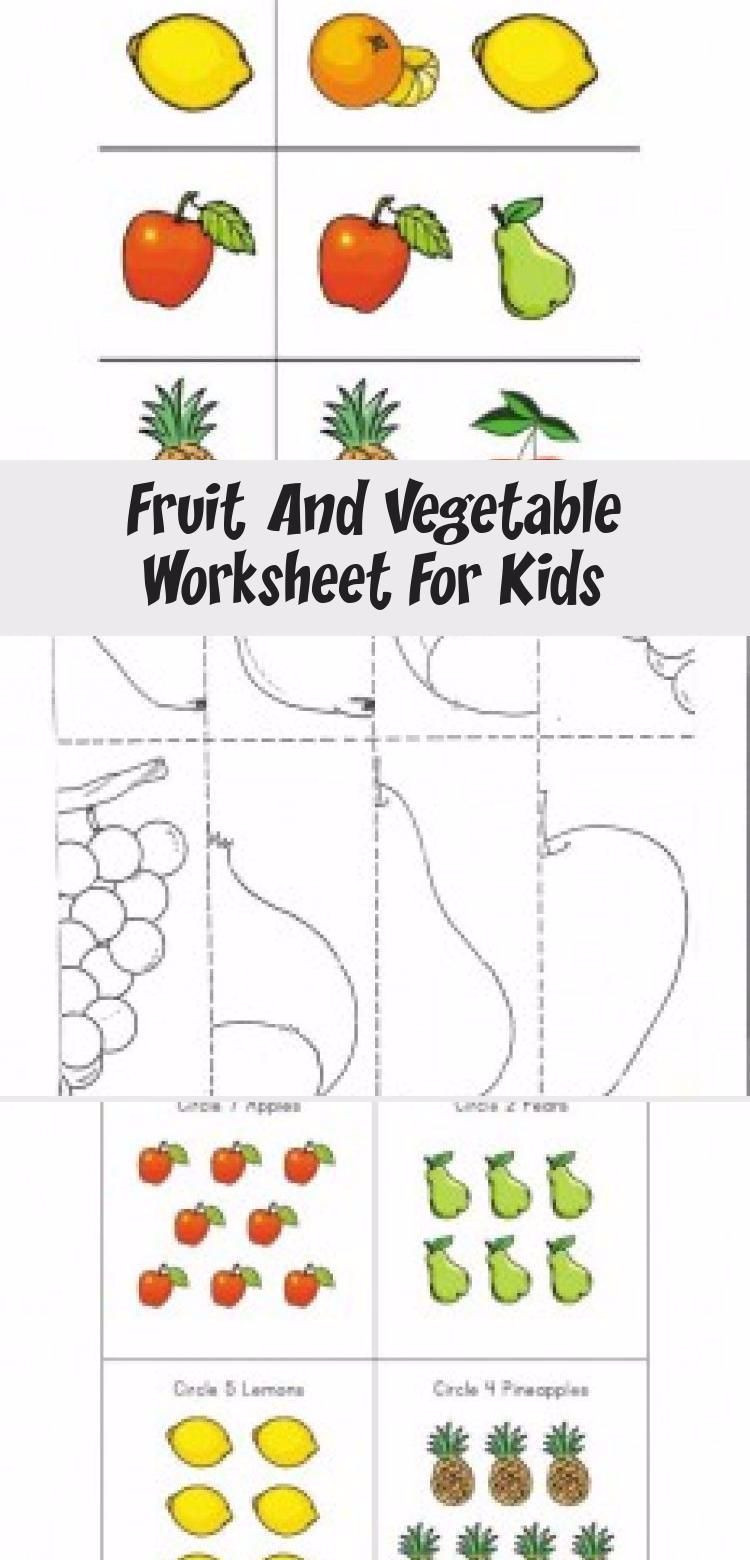 Preschool Fruits and Vegetables Worksheets Fruit Ve Ables Worksheet In 2020