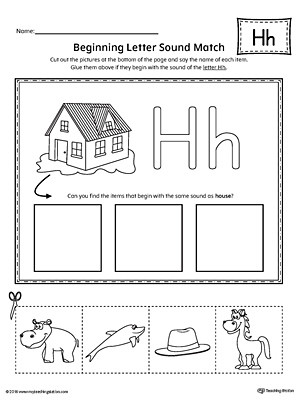 Preschool Letter H Worksheets Identify the Letter In Upper and Lower Case Kindergarten