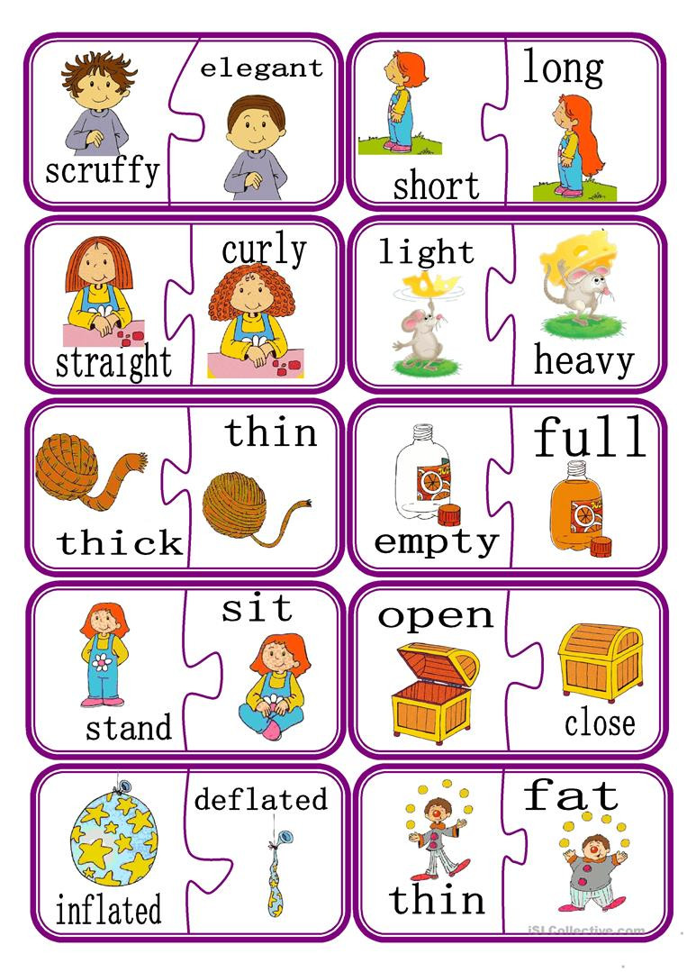 Preschool Opposite Worksheet English Esl Opposites Worksheets Most Ed 174 Results