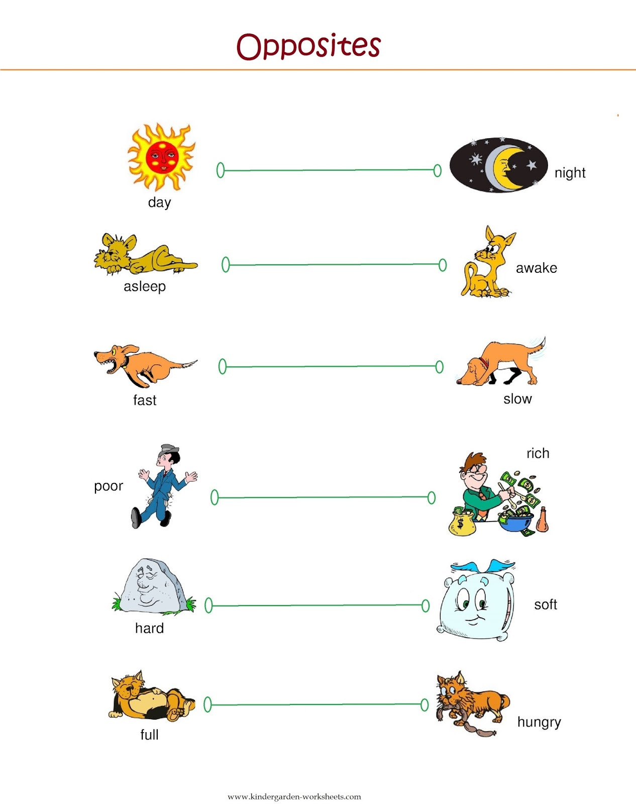 Preschool Opposites Worksheets Free Printable Opposites Worksheets for Preschoolers