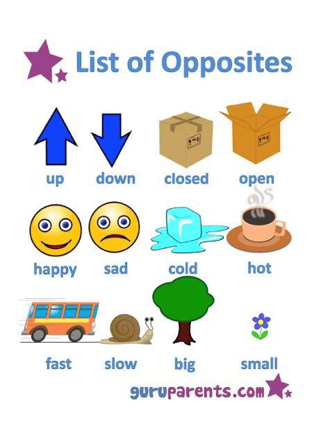 Preschool Opposites Worksheets Opposites