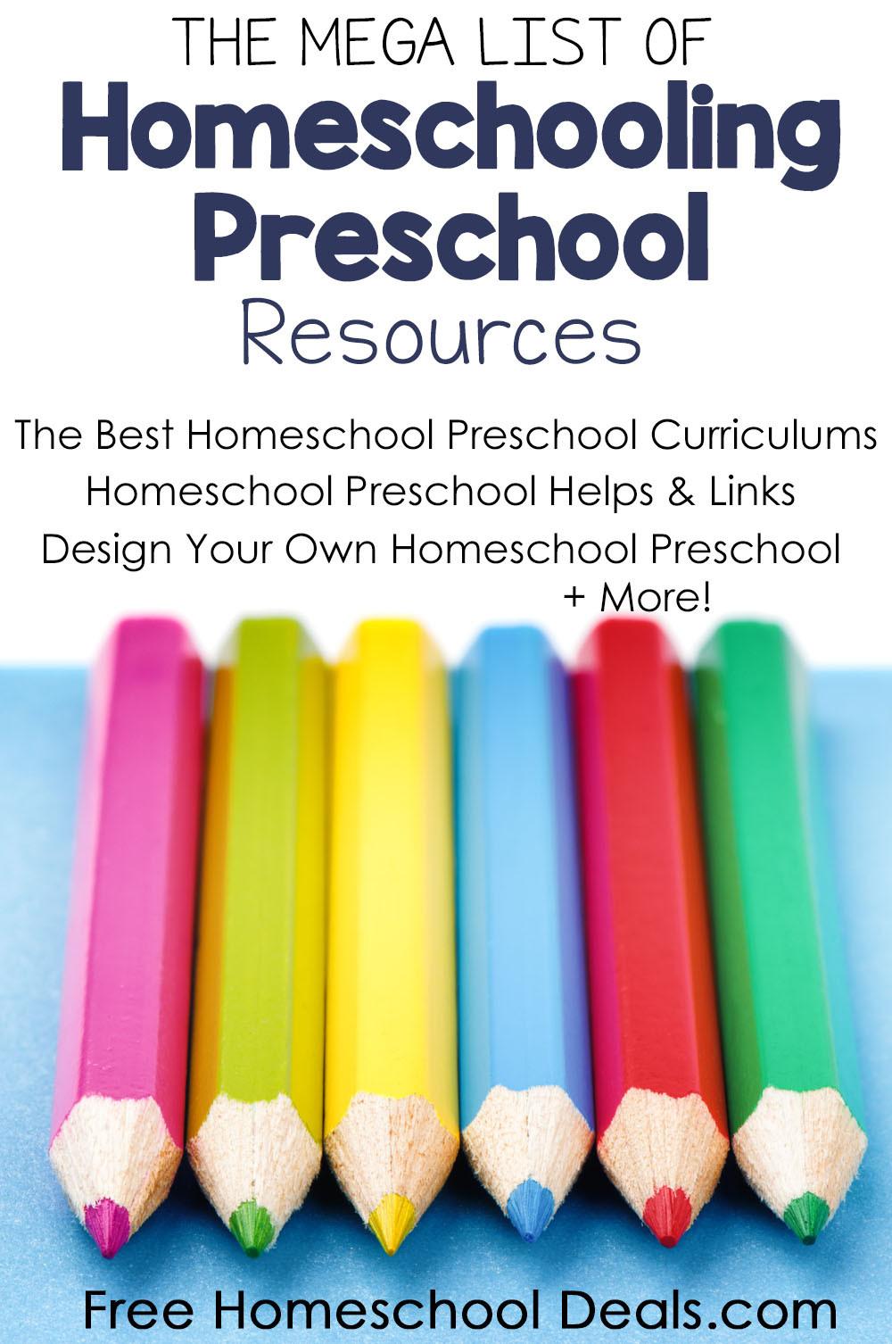 Preschool Palace Curriculum Mega List Of Homeschooling Preschool Resources