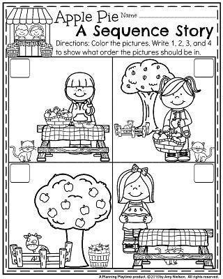 Preschool Sequencing Worksheets November Preschool Worksheets