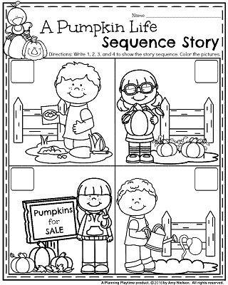 Preschool Sequencing Worksheets October Preschool Worksheets