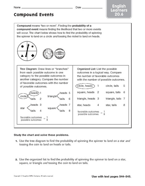 "Probability Worksheets 7th Grade Probability Worksheets Pdf Grade 7 لم يسبق له Ù…Ø ÙŠÙ"" الصور"