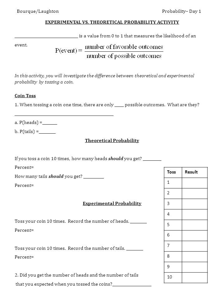 Probability Worksheets 7th Grade Seventh Grade Probability Lessons Tes Teach