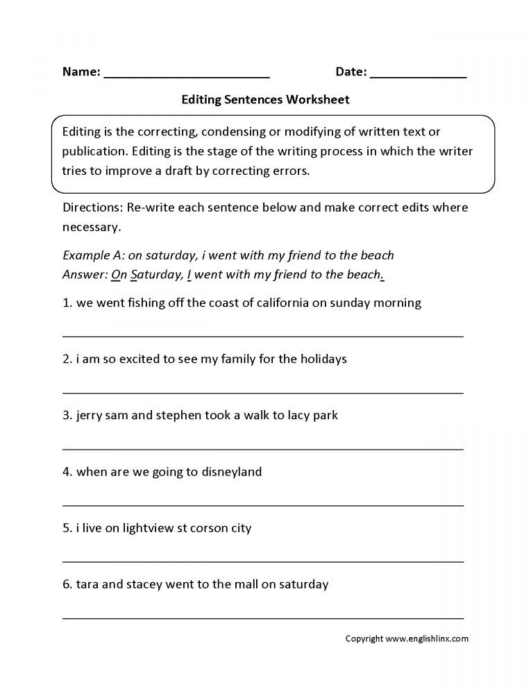 Proofreading Worksheets 3rd Grade 10 Revising and Editing Worksheets 5th Grade