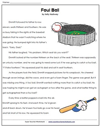 Proofreading Worksheets 3rd Grade A Third Grade Reading Prehension Passage