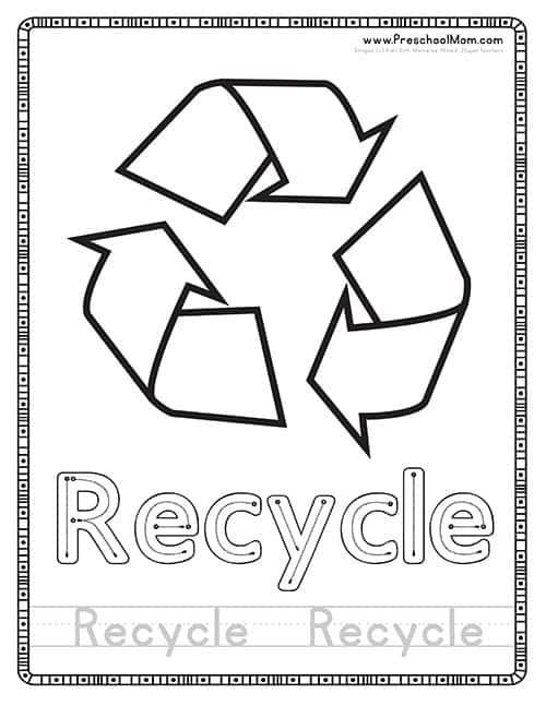 Recycle Worksheets for Preschoolers Earth Day Preschool Printables Preschool Mom
