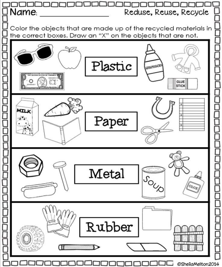 Recycle Worksheets for Preschoolers Reduce Reuse Recycle Worksheets Saferbrowser Yahoo Image