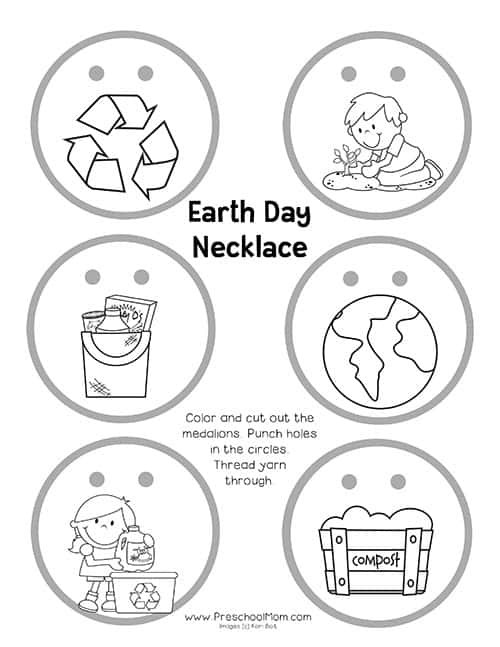 Recycling Worksheets for Preschoolers Earth Day Preschool Printables Preschool Mom