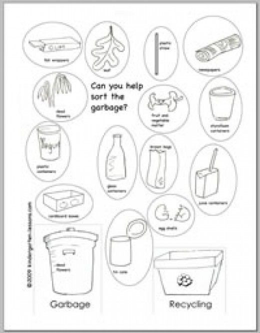 Recycling Worksheets for Preschoolers Recycling Worksheets for Kids