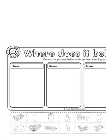 Recycling Worksheets for Preschoolers Recycling Worksheets for Kindergarten & Shapes Worksheets