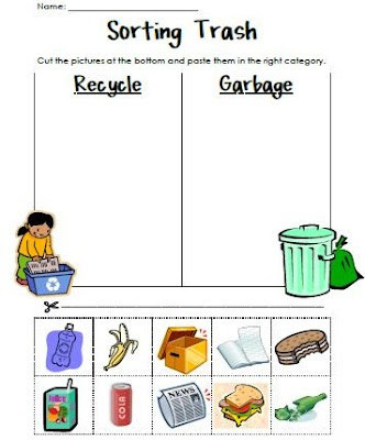Recycling Worksheets for Preschoolers Reduce Reuse Recycle Lessons Tes Teach