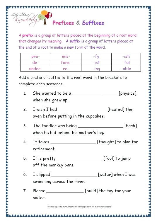 Root Word Worksheets 3rd Grade Root Words and Affixes Worksheets – Leter